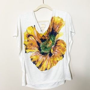 Anthropologie Rio ria sunflower shirt